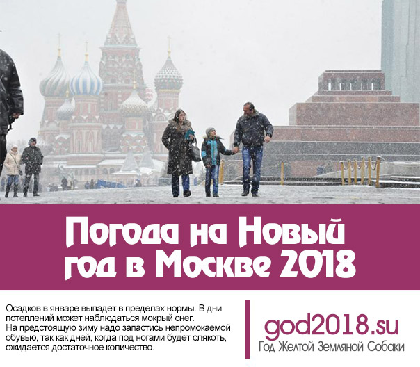 Weather for New Year in Moscow 2018