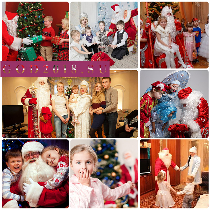 Order Santa Claus on a house in 2018. Prices in Moscow cheap
