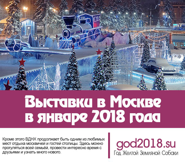 Exhibitions in Moscow in January 2018